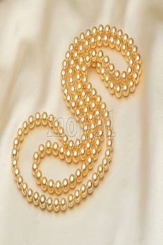 8mm Genuine Yellow South Sea Shell Pearl Round Beads Necklace 51/'/' Long AAA