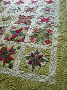 Gorgeous quilting on this quilt!