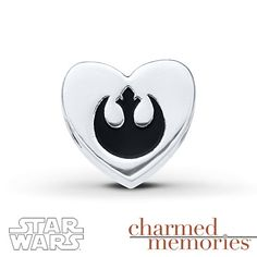 Charmed Memories Star Wars Rebel Charm Sterling Silver