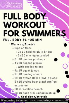 Dry Land Swim Workouts, Workouts For Swimmers, Lifting Workouts, Gym Workouts, Swimmers Diet, All Body Workout, Best Cardio Workout, Hard Workout, Pool Workout