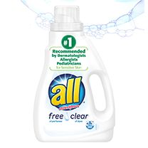 all® free clear, the #1 Recommended detergent brand by dermatologists, allergists and pediatricians for sensitive skin. Safe for the whole family, all® free clear combines the stain-fighting power power of Stainlifters™ with the sensitivity of your childhood best friend (she just gets you). No fragrances. No dyes. No irritating residue. Just clean, comfortable, worry-free clothes. #sponsored #sweepstakes