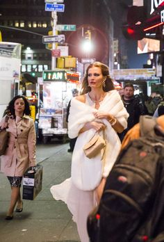 From Stage to Soiree: Disaster! Star Rachel York Rocks Faux Fur (and a Fake Wedding Ring!) for Broadway Opening