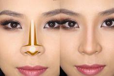 Nose contour or make up Nose Makeup, Contour Makeup, Hair Makeup, Contouring For Beginners, Makeup For Beginners, Nose Contouring, Contouring And Highlighting, Contour Nose, Beauty Make-up