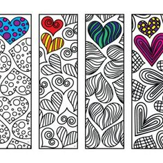 Grands signets imprimables Zentangle - Page Web 5 - Scribble & Sew - Hearts, Love, R . - Emoji Coloring Pages - Colouring Pages, Printable Coloring Pages, Adult Coloring Pages, Coloring Sheets, Free Coloring, Coloring Books, Heart Coloring Pages, Crayon Heart, Heart Bookmark