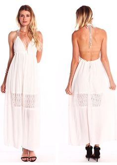 Backless Floral Lace Maxi Dress  WWW.SHOPPUBLIK.COM