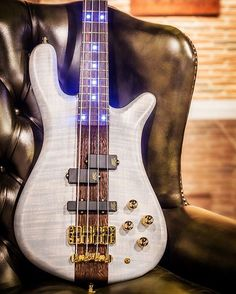 Streamer Stage I with hand selected AAA flamed Maple body wood, blue front and side LEDs and white transparent satin finish #warwick #framus #warwickbass #framusguitar #bass #guitar #instrument #music #musician #sound #strings #wood #woodporn #play #player #color #colorful #amps #amplification #acoustic #acousticguitar