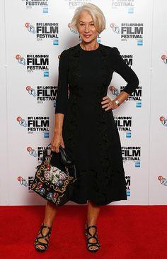 Look da atriz Helen Mirren no red carpet.