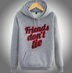 Stranger Things fleece hoodie for winter xxxl friends dont lie printed hooded sweatshirts