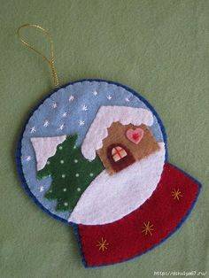 The post Schneekugel ! appeared first on WMN Diy. The post Schneekugel ! The post Schneekugel ! appear appeared first on WMN Diy. Felt Christmas Decorations, Christmas Ornaments To Make, Christmas Sewing, Noel Christmas, Felt Ornaments, Christmas Projects, Felt Crafts, Handmade Christmas, Holiday Crafts