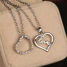 New fashion Couple necklace at www.favorwe.com ,cheap jewelry,valentine day gift only $0.99 shop at www.favorwe.com