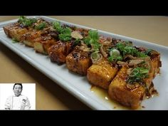 Fried Tofu With Spicy Teriyaki Glaze - How To Series - Easy Ethnic Recipes Tufo Recipes, Asian Recipes, Whole Food Recipes, Chicken Recipes, Cooking Recipes, Teriyaki Tofu, Teriyaki Glaze, Teriyaki Sauce, Baked Tofu