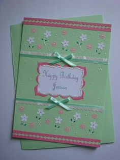 Lin Handmade Greetings Card: A sweet combination...