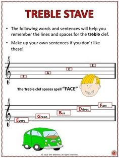 FREE download music mnemonics: Treble and Bass Pitch reference guide and worksheets! Free music worksheets. ♫ CLICK through to DOWNLOAD now or PIN for later! ♫