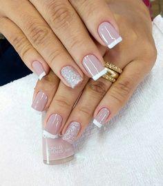 New nails colors classy elegant 68 Ideas Nail Manicure, Toe Nails, Pink Nails, Classy Nails, Trendy Nails, Nail Deco, New Nail Colors, Nagellack Trends, French Tip Nails