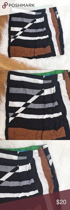 """Derek Lam Design Nation Abstract Mini Skirt EUC S Derek Lam for Design Nation Abstract print skirt  Women's Size S  Excellent condition - no blemishes  14"""" waist flat unstretched once  17"""" long  Side zipper  Pleated  Rayon   📷 Please see all photos - we do our best to accurately capture condition, measurements & all blemishes in our photos 📷   🌼 Smoke/pet free home 🌼  🌸 All clothing is freshly laundered before shipment. 🌸  ✨ Reasonable Offers Accepted ✨ Derek Lam Skirts Mini"""