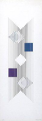Série Branca 1974 | Lothar Charoux serigrafia sobre papel, 21/25 70.00 x 19.80 cm