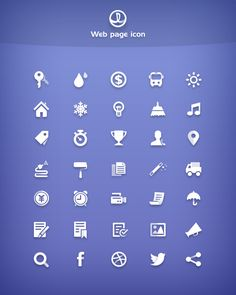 35 Simple Free Icons, #Free, #Graphic #Design, #Icon, #PSD, #Resource, #Simple