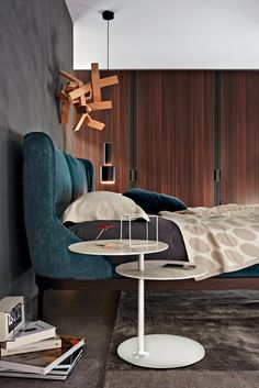 Double bed with upholstered headboard FULHAM   Bed - MOLTENI & C.