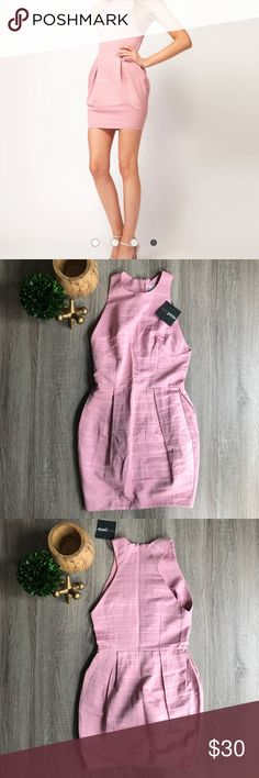 ASOS PETITE Exclusive Tulip Dress Textured Stripe Brand new/never been worn. Size US 4 petite (runs small/it doesn't fit me and I wear 2 petite). Material: 67% cotton 33% polyester, lining: 100% polyester. ASOS Petite Dresses Mini