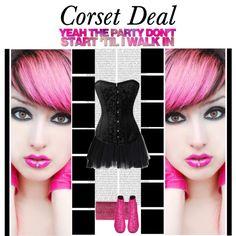 """Yeah the party don't start 'til I walk in"" Celina Brocade Corset http://www.corsetdeal.com/Celina-Brocade-Corset_p_99.html  Your Price:$86.70 Retail Price:$116.70  40% Discount code : XMAS40 #corsetdeal #corset  #waisttrainingcorset  Desiree Lace Tu Tu Skirt http://www.corsetdeal.com/Desiree-Lace-Tu-Tu-Skirt_p_2733.html"