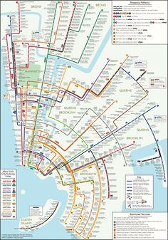 New York City - Circular Subway Map by Max Roberts