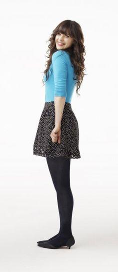 Las etiquetas más populares para esta imagen incluyen: zooey deschanel, dress, fashion, quirky y style