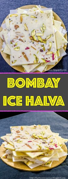 Bombay Ice Halva Herbivore Cucina: Bombay Ice Halva…An easy to make Indian sweet using flour and sugar; Ice Halva is a SUPER popular sweet in Mumbai. Make it at home and ENJOY! Indian Dessert Recipes, Indian Sweets, Sweets Recipes, Indian Snacks, Indian Recipes, Naan, Curry Recipes, Vegetarian Recipes, Carrot Salad Recipes