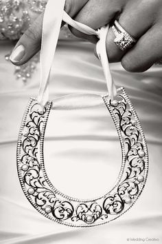 A horseshoe for the bride to carry.