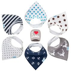 I Love You Mon and Dad Personalized Scarf Bib Feeding /& Teething Fancy Baby Bibs and Burp Cloth Polyester Cotton