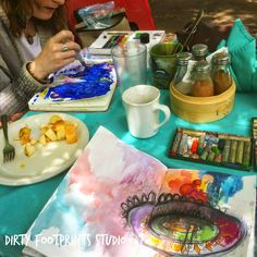 """I had the absolute privilege to host a """"work"""" retreat with Hali Karla -- my beloved creative director for 21 SECRETS! We got our art journaling on most of the time! Come over to my blog post to learn how our working relationship blossomed!"""