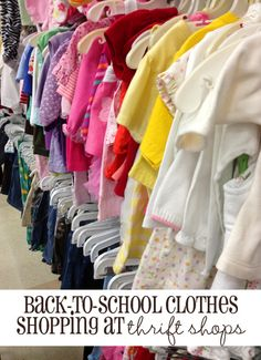 How to shop for back-to-school clothes at thrift stores.