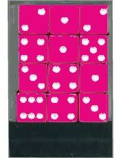 DELUXE! Rounded Hot Pink Dice