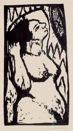 Erich Heckel -In Duitsland dankt men aan Die Brücke de heropleving van de… August Macke, Kandinsky, Figure Painting, Painting & Drawing, George Grosz, Ernst Ludwig Kirchner, Wood Engraving, Linocut Prints, Life Drawing