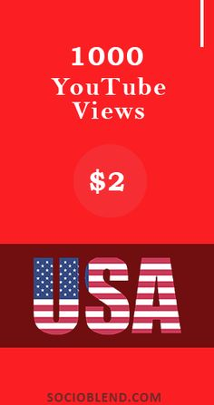Get 1000 Youtube views at $2. High-retention Youtube views offered at affordable rates available in United States. #Buy #Youtube #Views #USA