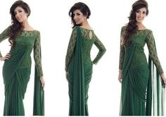 Saree Gown Designs