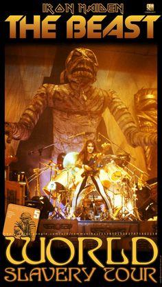 IRON MAIDEN ON TOUR 1984.