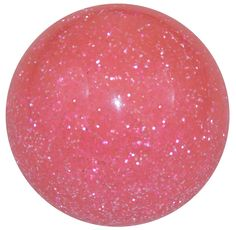"""Pink Glitter shifter knob. 2-1/8"""" diameter. All effects are inlaid under the surface and smooth to the touch! Other Colors Available! Fits most Volkswagen cars with manual shifters and Lotus after 2009 with M12x1.50 threads."""