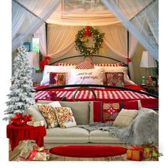 """""""Christmas Bedroom Decor"""" great for setting the mood for Christmas guests."""