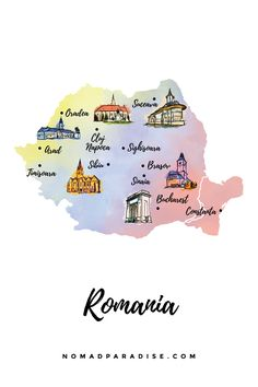 Romania Map, Romania Travel, Constanta Romania, Paradise Travel, Most Beautiful Cities, Travel Maps, Designs To Draw, Cool Places To Visit, Travel Guides