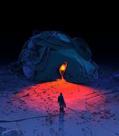 Aquaman, Art Sombre, Art Science Fiction, Dark Planet, Surreal Artwork, Naruto, Dark Artwork, Wow Art, Epic Art