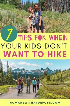 Hiking is easy when you're kids are motivated (aka bribed) but what do you do when your kids just don't want to hike? These 7 tips for hiking with kids will help keep your kids on the trail longer so you can enjoy an amazing hike #HikingWithKids #hikingtips