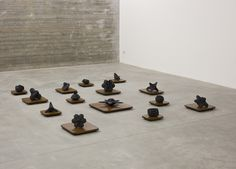 Maura Biava - Trinity - fired abstraction, installation view. Gallery Alessandro De March Milan. 2010