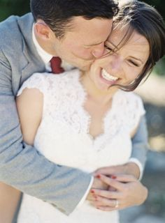 **Must Have Wedding Day Picture** Picture of bride and groom hugging/laughing