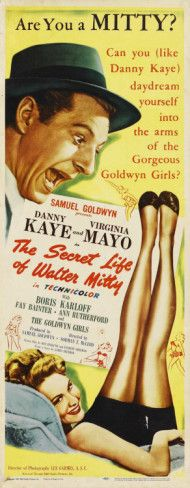 The Secret Life of Walter Mitty, starring Danny Kaye. ($19.99)