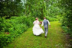 Romantic bride and groom photo in the woods at Waldenwoods by Kate Saler Photography. www.katesalerphotography.com