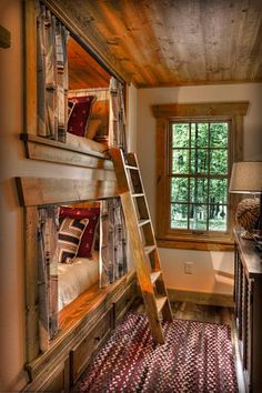Cabin Bunk Beds in the Wall ~ Land's End Development