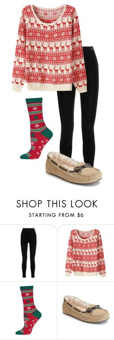 """""""Ugly Christmas Sweater"""" by megaspirit on Polyvore featuring Balmain and HOT SOX"""