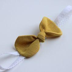 yellow knot bow headband