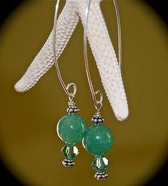Swarovski EarringsNatural Stone Earrings by IslandTreasures2013, $28.00
