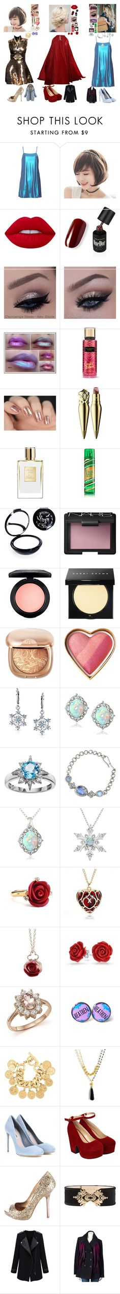 """""""three best freinds"""" by frostedrose ❤ liked on Polyvore featuring Elie Saab, Gareth Pugh, Lime Crime, Christian Louboutin, Manic Panic NYC, NARS Cosmetics, MAC Cosmetics, Bobbi Brown Cosmetics, Bling Jewelry and Enduring Jewels"""